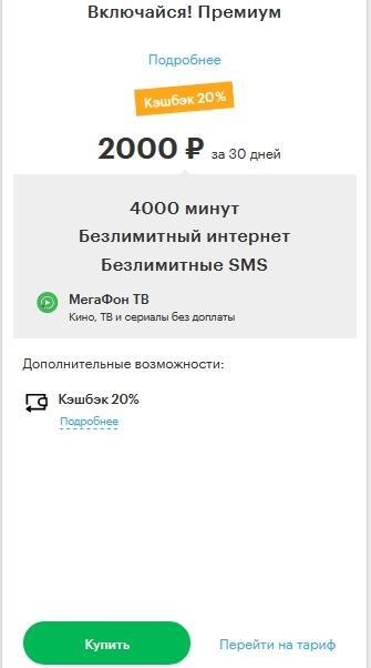 Описание тарифов для Перми и края от Мегафона в 2021 году