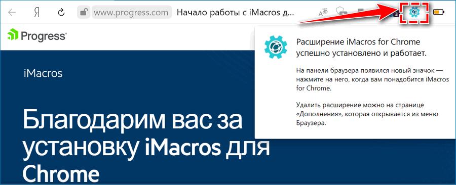 Кнопка iMacros