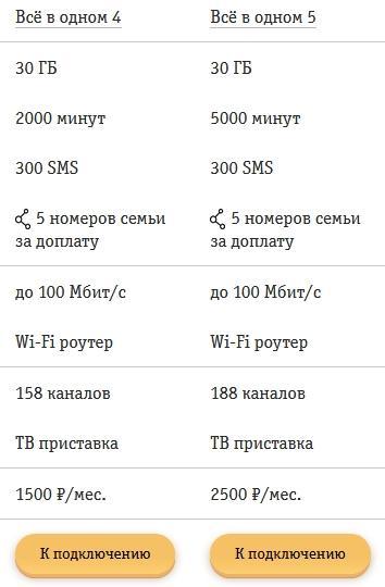 Обзор тарифов от Билайна для Костромы и области в 2021 году