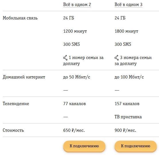 Обзор тарифов Билайна для Тольятти в 2021 году