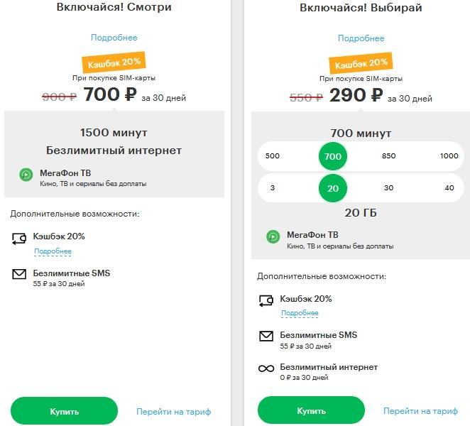Обзор тарифов от Мегафона для Томска и области в 2021 году