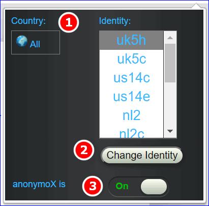 настройте anonymox в yandex browser