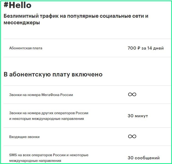 хеллоу от мегафон в чеченской республике