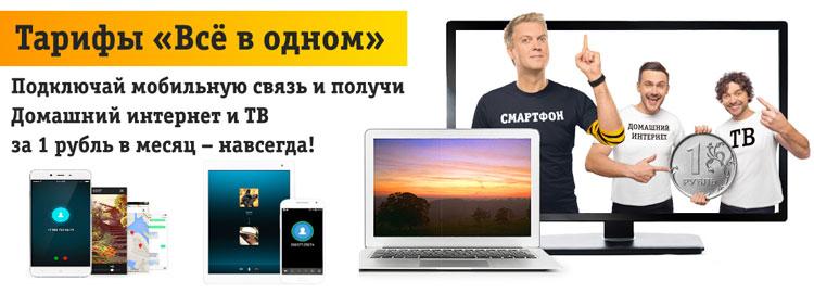 описание билайн услуги интернет за 1 рубль