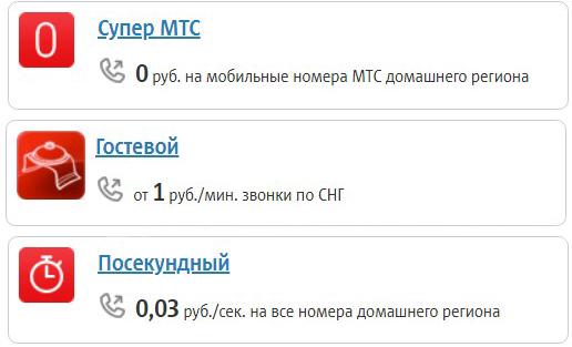мтс тарифы ижевск без абон платы