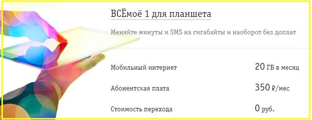 тариф для планшета от билайн в тольятти