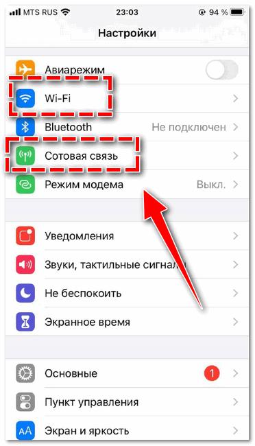 Доступ к сети