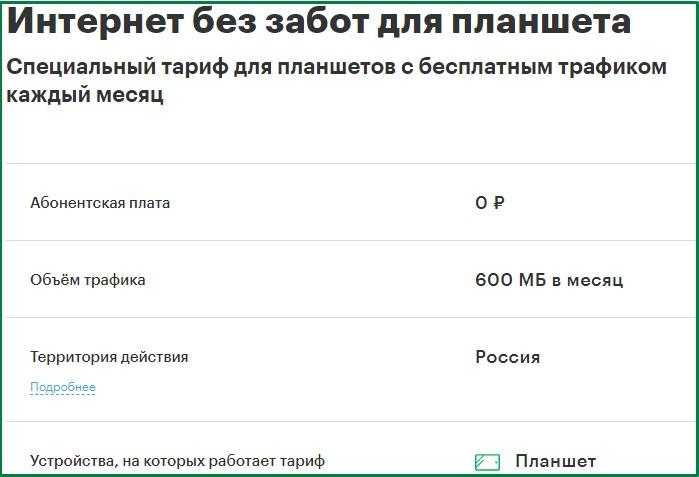 тариф для планшета от мегафон для челябинска