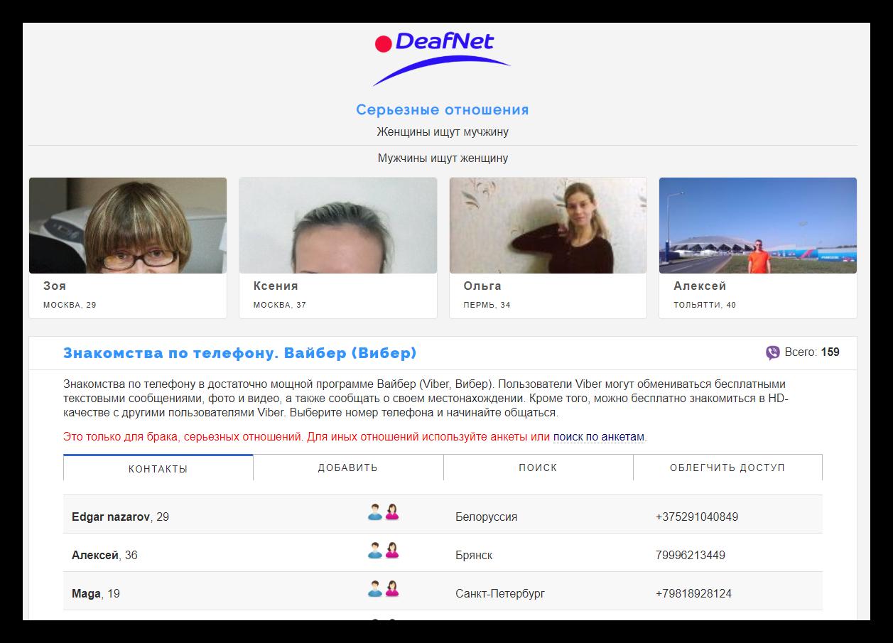 Сайт deafnet