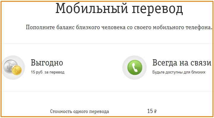 описание услуги мобильный перевод от билайн