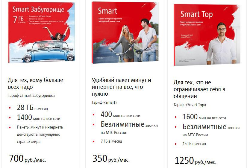 мтс тарифы санкт петербург линейка смарт