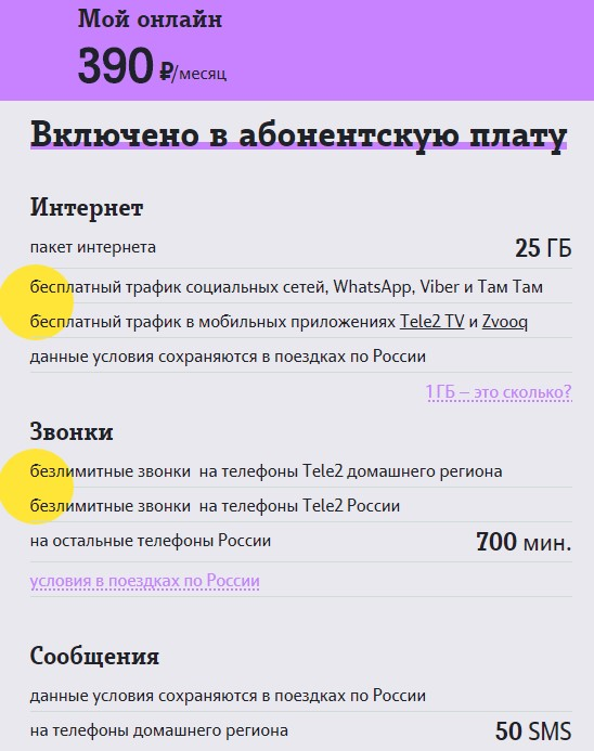теле2 тарифы в хмао мой онлайн