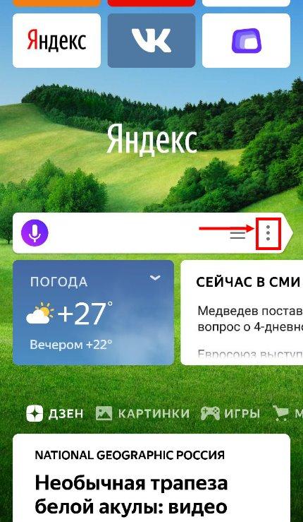 Режим Инкогнито в Яндекс браузере на мобильном