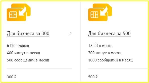 билайн тарифы для бизнеса за 300, 500 для алтайского края