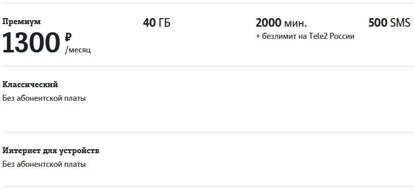 Обзор тарифов Теле2 для Кемерово и области в 2021 году