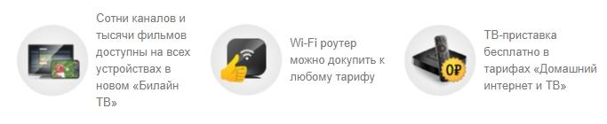 тарифы для интернета и тв от билайн в екатеринбурге