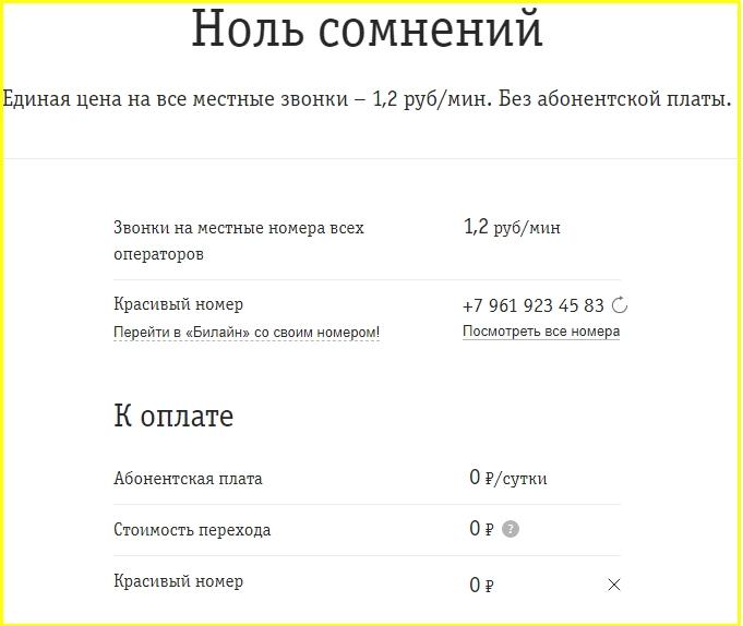 Обзор тарифов от Билайна для Оренбургской области в 2021 году