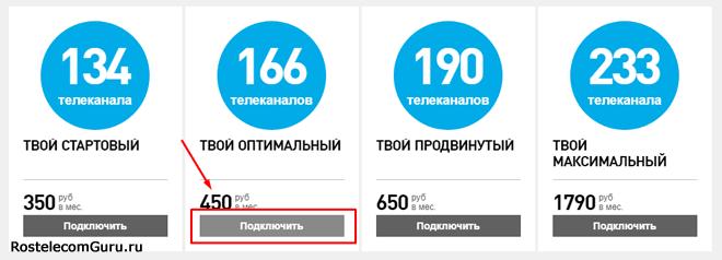 Обзор тарифа «Твой оптимальный» от Ростелеком: список каналов, цена, подключение