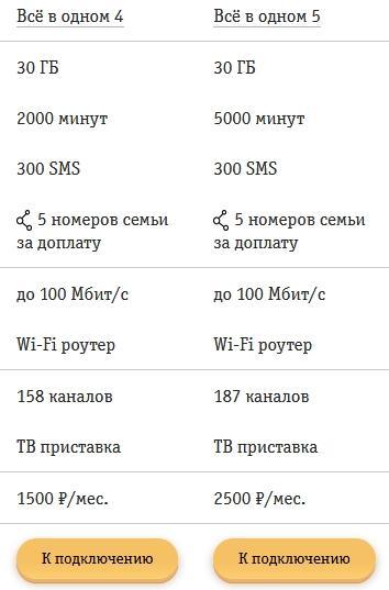 Обзор тарифов для Екатеринбурга от Билайна в 2021 году