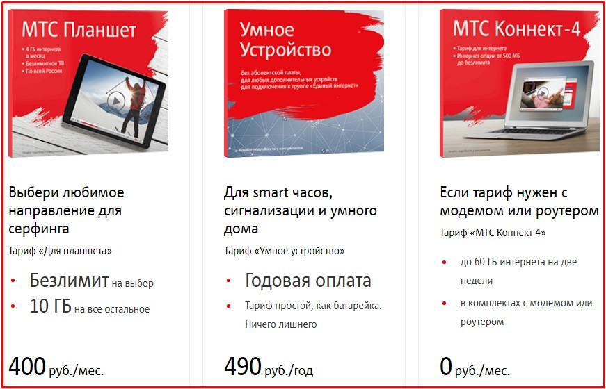тарифы мтс краснодарский край для интернета
